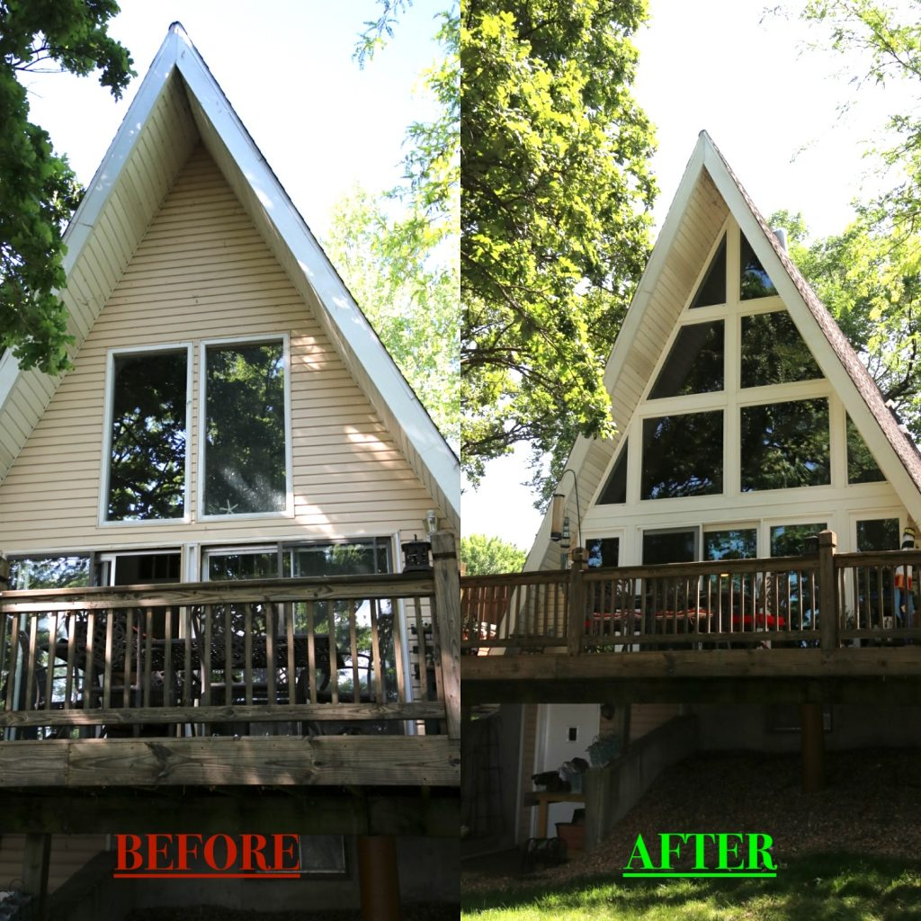 A-Frame Before and After Additions and Remodeling in Kansas