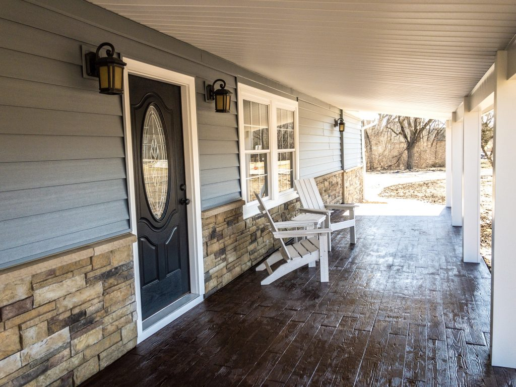 New Front Door, Siding and Porch Additions and Remodeling in Kansas