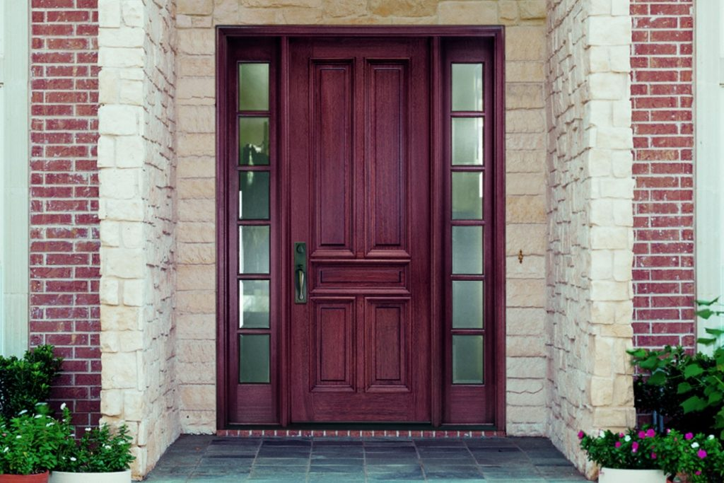 New Cherry Door Instillation Additions and Remodeling in Kansas