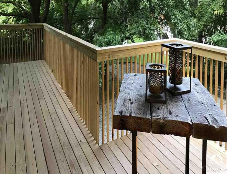 Rebuilt Second Story Deck Additions and Remodeling in Kansas